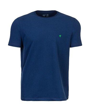 Camiseta Masculina Made in Mato Básica Azul Touch
