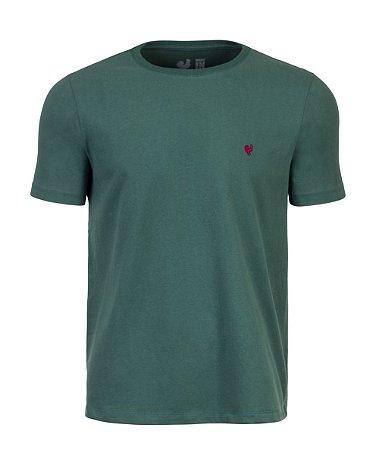 Camiseta Masculina Made in Mato Básica Verde Musgo Touch