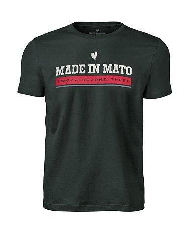 Camiseta Made in Mato Verde Musgo Estampada