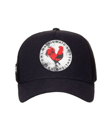 Boné Made in Mato Trucker  Super Icon Preto