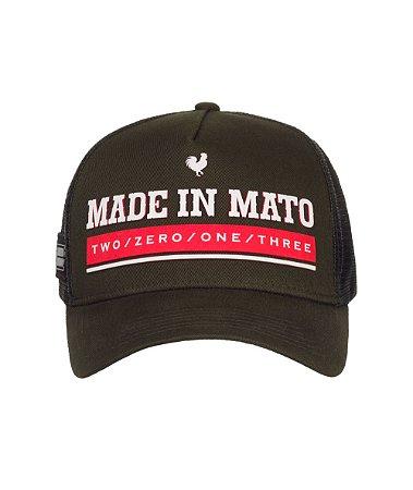 Boné Made in Mato Trucker New Green