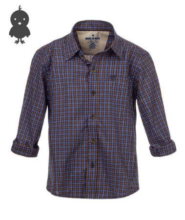 Camisa Made in Mato Masculina Infantil Xadrez