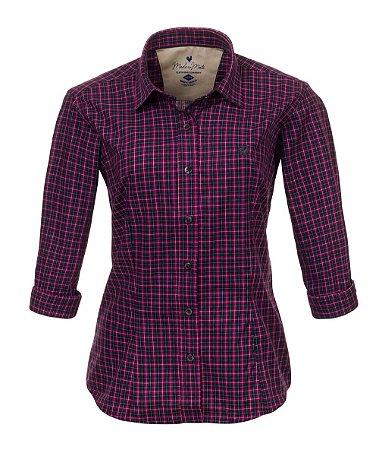 Camisa Feminina Made in Mato Xadrez Pink