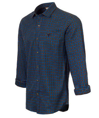 Camisa Made In Mato Flanelada Manga Longa Xadrez Mix Azul