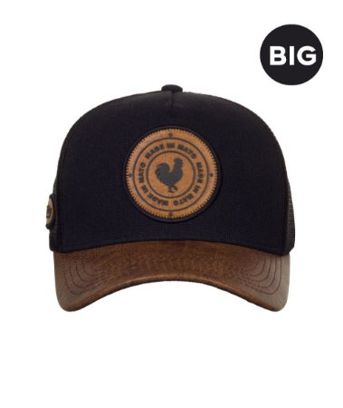 Boné Made in Mato Trucker Old Leather BIG