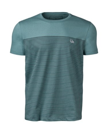Camiseta Masculina Listrada Verde Claro Índio