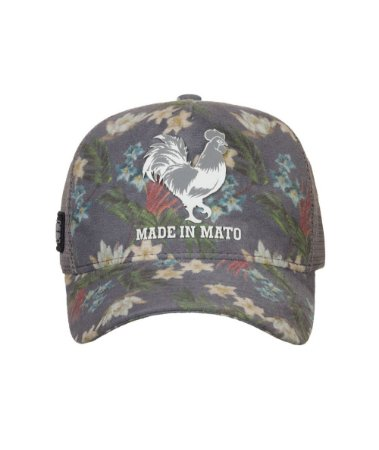 Boné Made in Mato Trucker New Floral Cinza