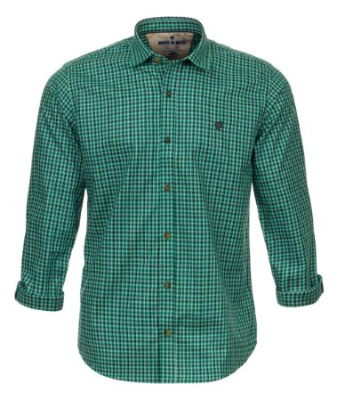 Camisa Masculina Made in Mato Xadrez Mix Verde Água