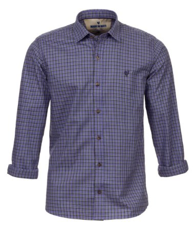 Camisa Made in Mato Masculina Estampada Azul Claro