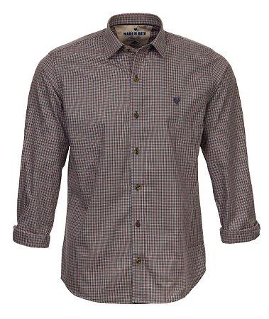 Camisa Made in Mato Masculina Xadrez Mix Chumbo