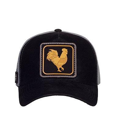 Boné Made in Mato Trucker Rooster Gold Nobuck