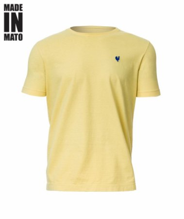 Camiseta Masculina Made in Mato Lisa Amarelo