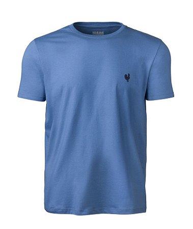 Camiseta Masculina Made in Mato Lisa Azul