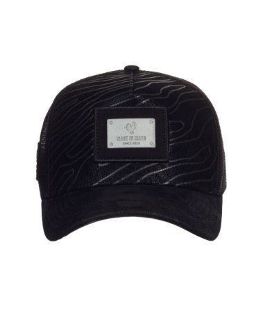 Boné Made in Mato Trucker Nobuck Strips Black