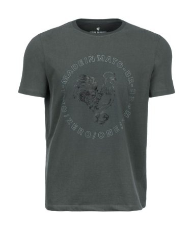 Camiseta Made in Mato Selo Rooster Verde Musgo