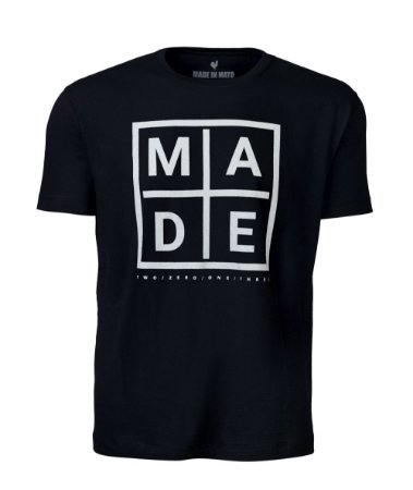 Camiseta Made in Mato Black Chess