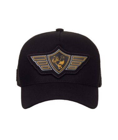 Boné Made in Mato  Trucker Wings Black
