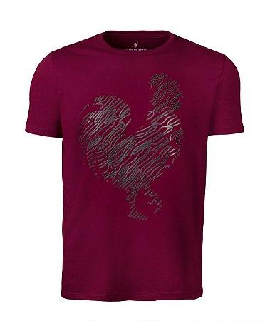 Camiseta Estampa Masculina Bordo Plastisol