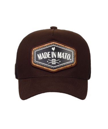 Boné Made in Mato Trucker Cork Brown