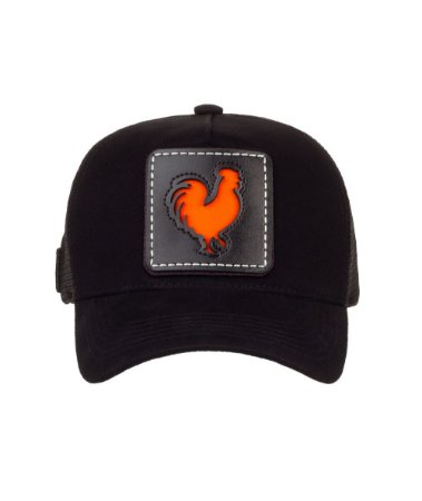 Bone Trucker Rooster Window Orange