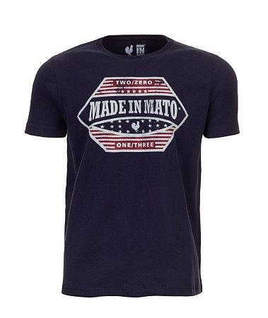 Camiseta Estampada Made in Mato EUA Marinho