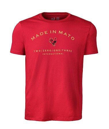 Camiseta Estampada Made in Mato Vinho