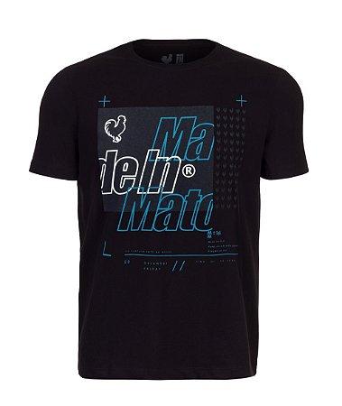 Camiseta Estampada Preto
