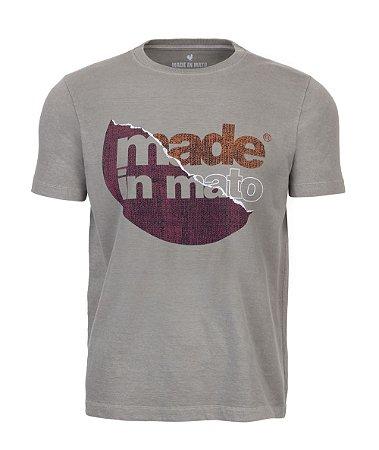 Camiseta Estampada Stone Cinza