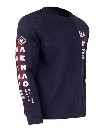 Camiseta Made in Mato Estampada Manga Longa
