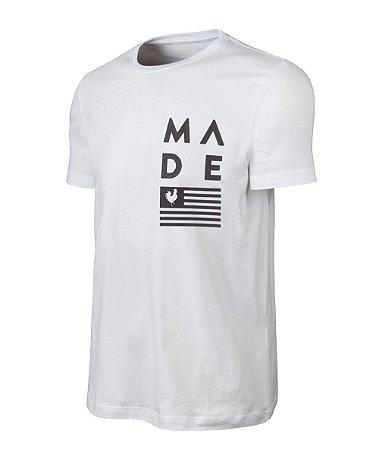 Camiseta Estampada Made in Mato Flag Branca