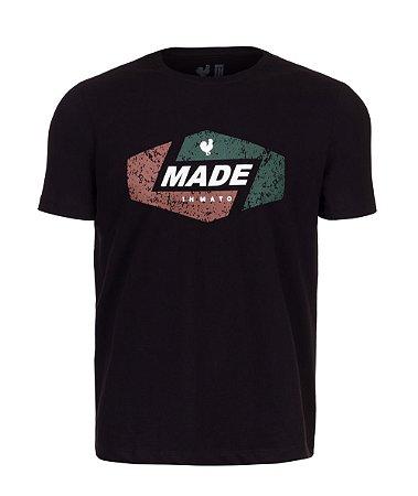 Camiseta Estampada Made in Mato Style Preta
