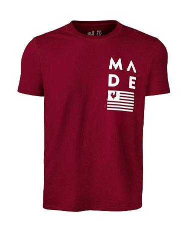 Camiseta Estampada Made in Mato Flag Vermelha