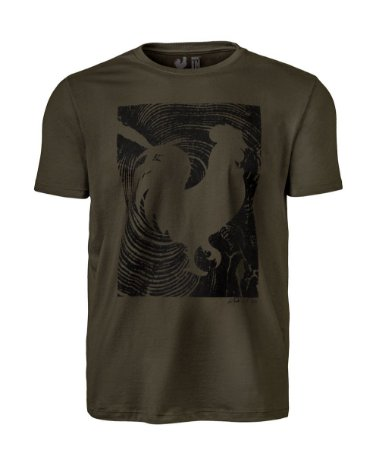 Camiseta Estampada Made in Mato Masculina Musgo