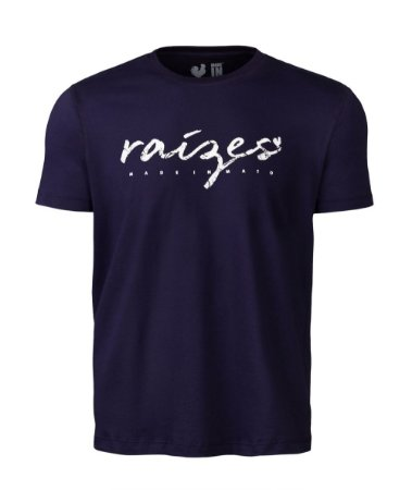 Camiseta Estampada Made in Mato Masculina Marinho
