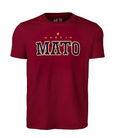 Camiseta Estampada Made in Mato Masculina Vermelha