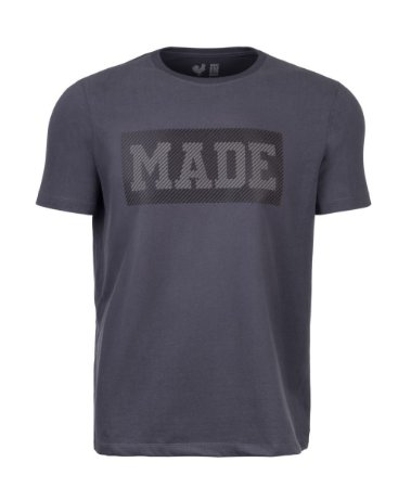 Camiseta Estampada Made in Mato Masculina Cinza