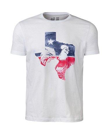 Camiseta Estampada Made in Mato Texas Branca