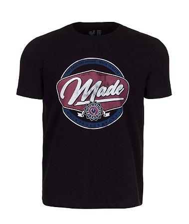 Camiseta Estampada Made in Mato Made Vintage Preto