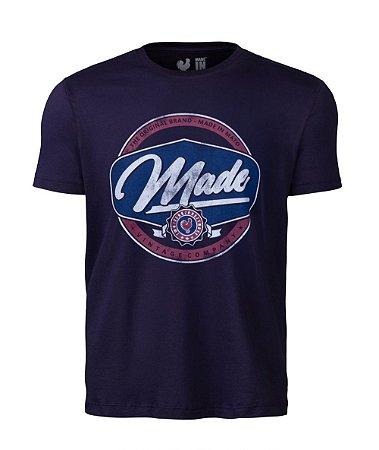 Camiseta Estampada Made in Mato Made Vintage Marinho
