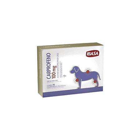 Carprofeno 100mg Anti-inflamatório Cães - Ibasa