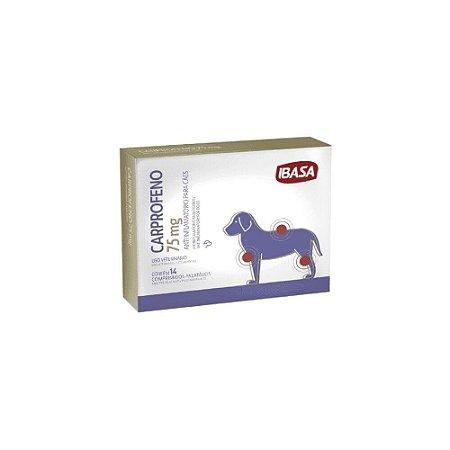 Carprofeno 75mg Anti-inflamatório Cães - Ibasa