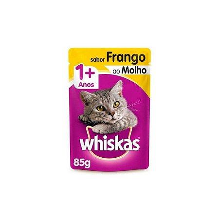 Sache Gatos Sabor Frango ao Molho 85gr - Whiskas