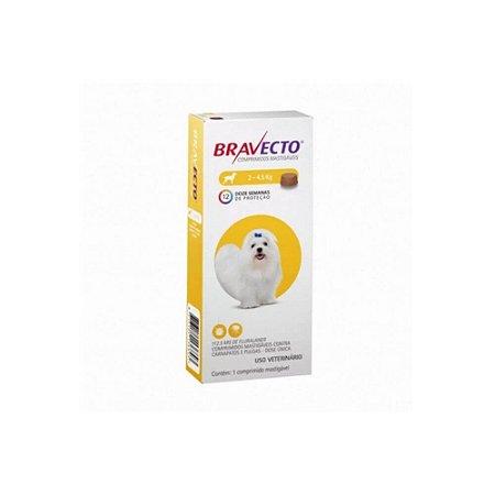 Bravecto Comprimido 2Kg a 4,5Kg - MSD - VAL:MAI/22 + BRINDE!