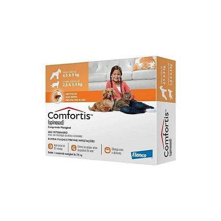 Antipulgas Comfortis 270mg - Caes 4,5 a 9kg e Gatos 2,8 a 5,4kg - Elanco