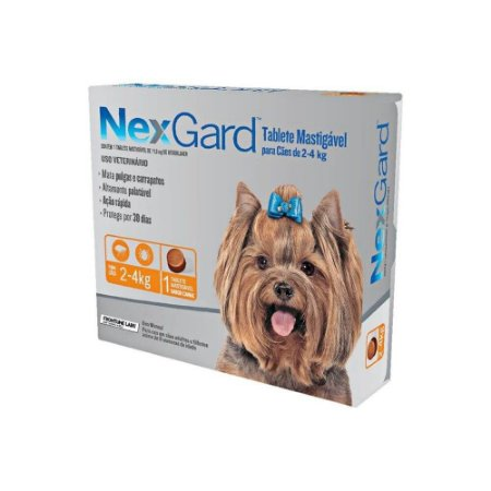 Nexgard Tablete Mastigavel 2kg a 4 kg - Merial