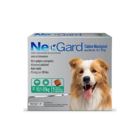 Nexgard Tablete Mastigavel 10,1kg a 25 kg - Merial