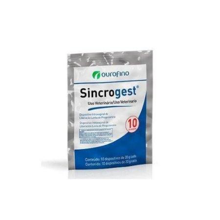 Sincrogest Implante Progesterona (Pacote com 10) - Ouro Fino