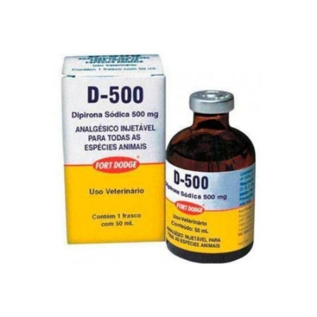 D-500 Dipirona Analgesico Injetavel 50mL - Zoetis