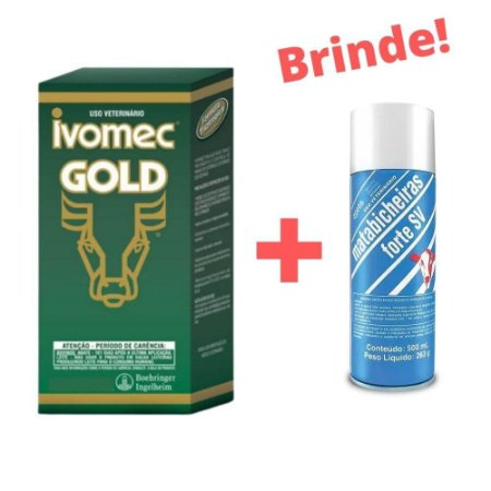 Ivomec Gold 3,15% 500mL - Merial + BRINDE!
