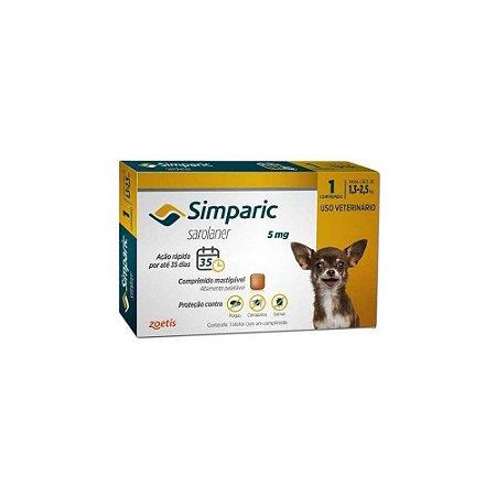 Antipulgas Simparic 5 mg - Caes 1,3kg - 2,5kg - Zoetis